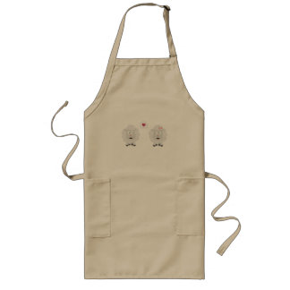 Sheeps in love with heart Z7b4v Long Apron