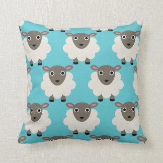 Sheeps seamless pattern throw pillow