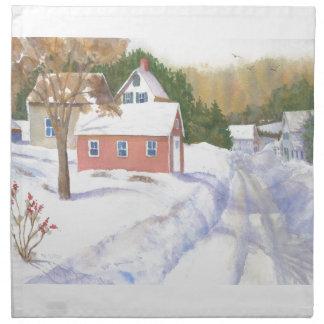 Sheepscott Maine Road Napkin