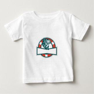 Sheepshead Fish Jumping Lifesaver Circle Retro Baby T-Shirt