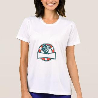 Sheepshead Fish Jumping Lifesaver Circle Retro T-Shirt