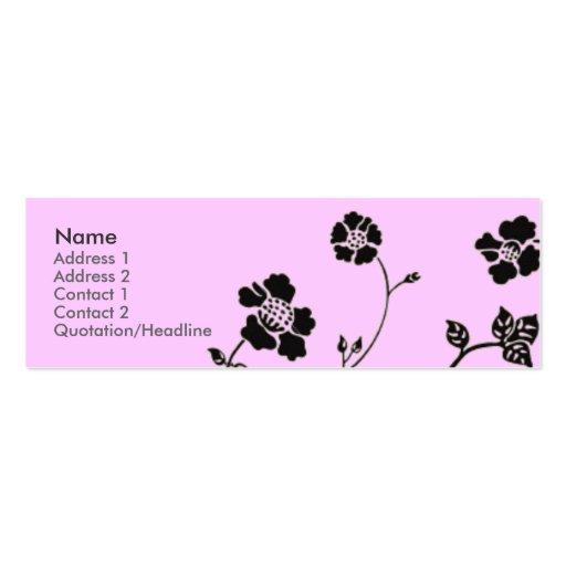 Sheer Elegance Profile Card Business Card