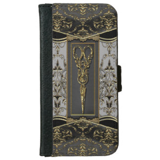 Sheer Hazlehurst Antiqued ScissorsIV iPhone 6 Wallet Case