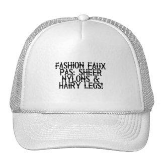 Sheer Nylons, Hairy Legs Trucker Hat
