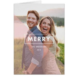 Sheer Pink Holiday Photo Greeting Card