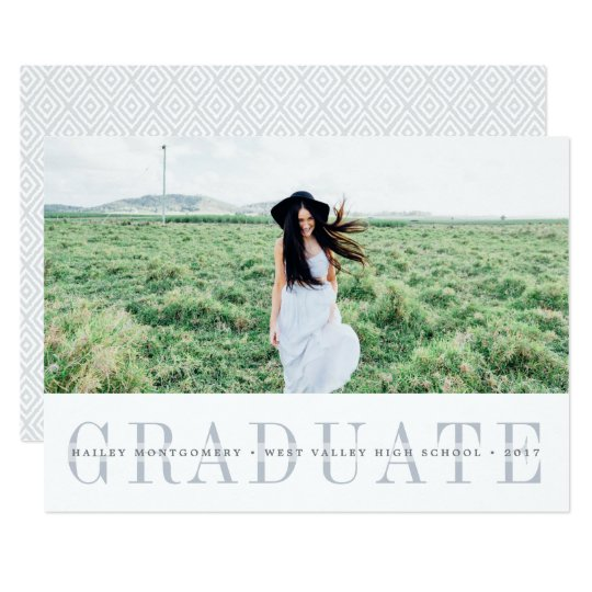 Sheer Stripe | Photo Graduation Announcement Card