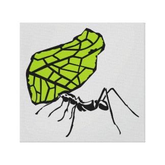 Sheet cut ant nature Stencil Canvas Print