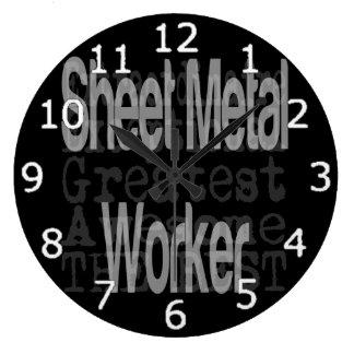 Sheet Metal Worker Extraordinaire Large Clock