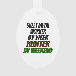 Sheet Metal Worker Hunter Ornament