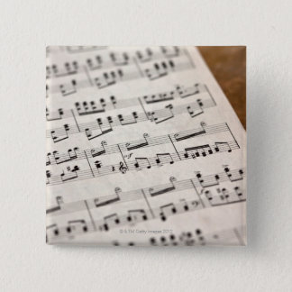 Sheet Music 7 2 Inch Square Button