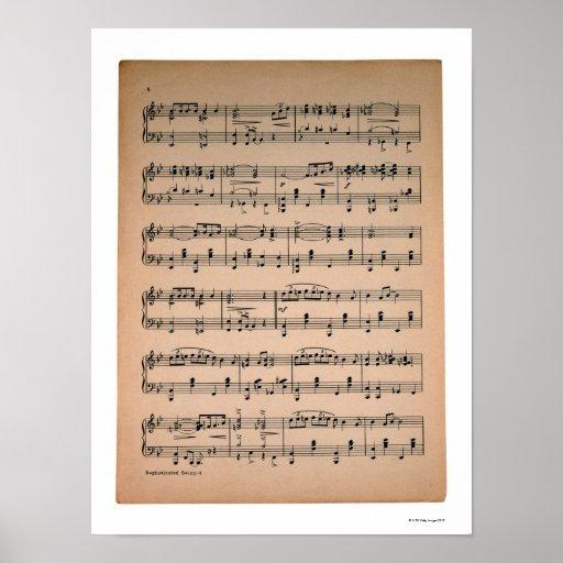 Sheet Music 7 Poster