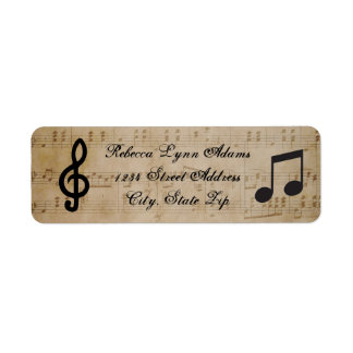 Sheet Music - Address Label