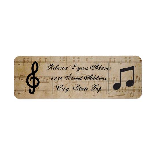 Sheet Music - Address Label