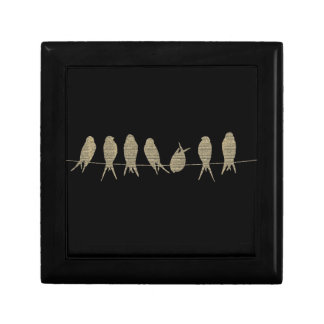 Sheet Music Birds Keepsake Gift Box