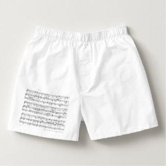 Sheet Music Black and White Pattern Boxers