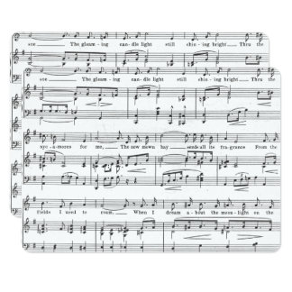 Sheet Music Black and White Pattern Card