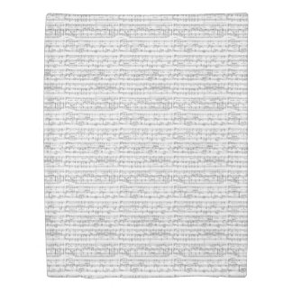 Sheet Music Black and White Pattern Duvet Cover