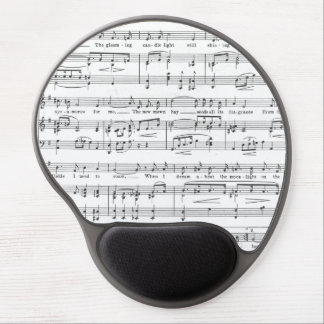 Sheet Music Black and White Pattern Gel Mouse Pad