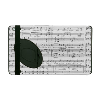 Sheet Music Black and White Pattern iPad Cover
