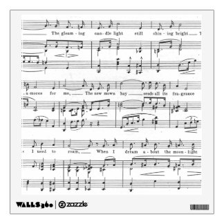 Sheet Music Black and White Pattern Wall Decal