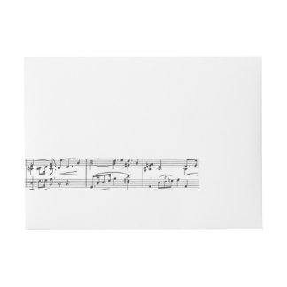 Sheet Music Black and White Pattern Wraparound Address Label