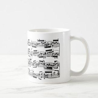 Sheet Music by Bach Basic White Mug