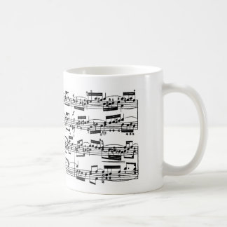 Sheet Music by Bach Coffee Mug
