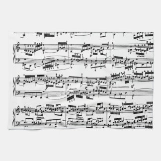 Sheet Music by Bach Kitchen Towel