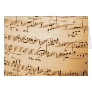 Sheet Music Card