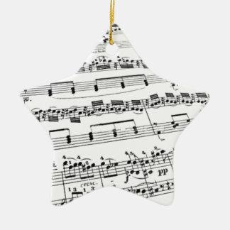 Sheet Music Ceramic Ornament