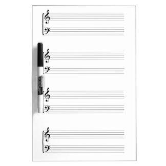 Sheet Music Dry Erase Board