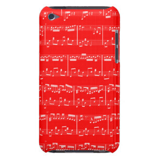 Sheet Music iPod Touch Red Barely There iPod Covers