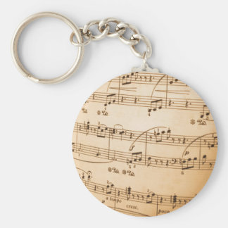 Sheet Music Keychain