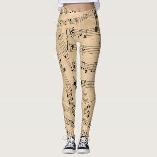 Sheet Music Leggings