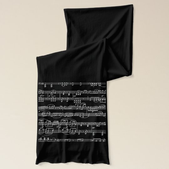 sheet music - musical notes scarves