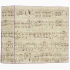 Sheet Music on Parchment Handwritten in Ink Binder
