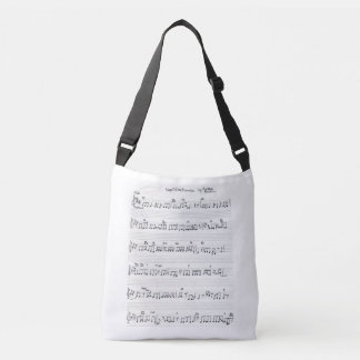 sheet music piano & piano keys bag