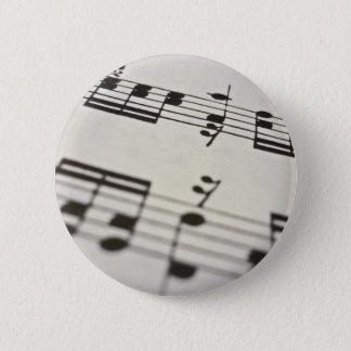 Sheet music score 2 inch round button