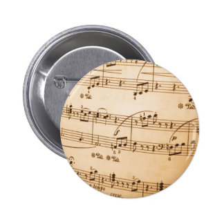 Sheet Music Template Create Your Own Custom Gifts 2 Inch Round Button