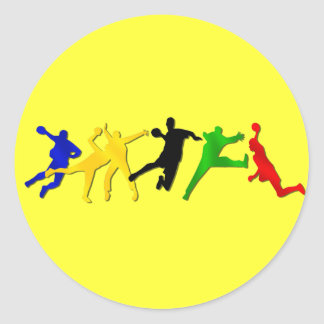 Sheet of 20 handball stickers for fans and players