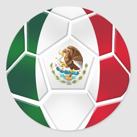 Sheet of 20 Mexican modern soccer ball stickers