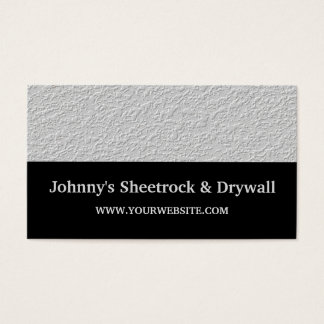 Sheetrock & Drywall Construction Business Card