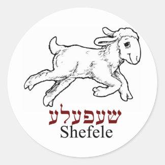 Shefeleh-little lamb classic round sticker