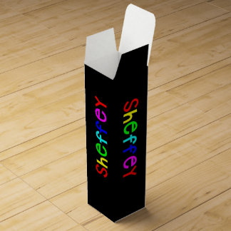 Sheffey Bold Rainbow Fonts 9711 Wine Gift Boxes