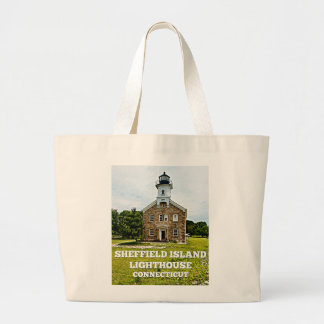 Sheffield Island Lighthouse, Connecticut Large Tote Bag