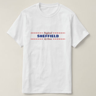 SHEFFIELD - My Home - England; Red & Pink Hearts T-Shirt