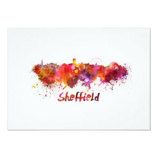 Sheffield skyline in watercolor card