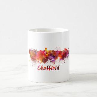 Sheffield skyline in watercolor coffee mug