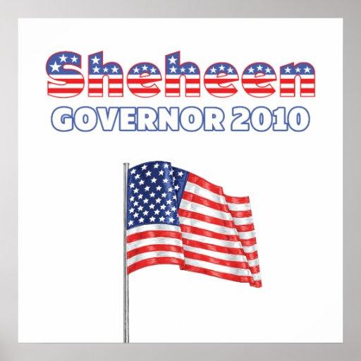 Sheheen Patriotic American Flag 2010 Elections Print