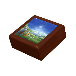 Sheherds Come to Bethlehem Keepsake Box